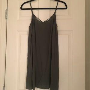 Forever 21 Olive green spaghetti strap dress.